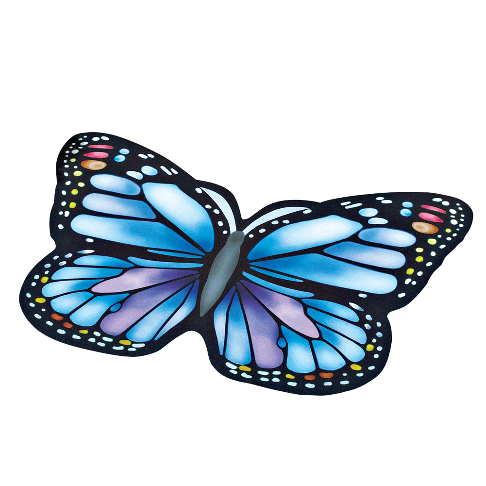 Colorful Vibrant Butterfly Shaped Rubber Outdoor Door Mat