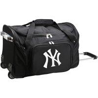 "New York Yankees 22"" 2-Wheeled Duffel Bag - Black - No Size"