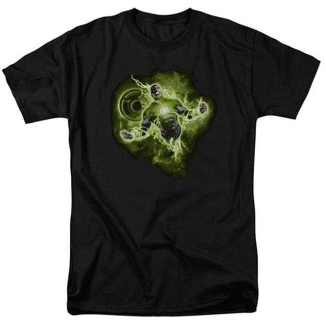 Green Lantern-Lantern Nebula Short Sleeve Adult 18-1 Tee, Black - Small