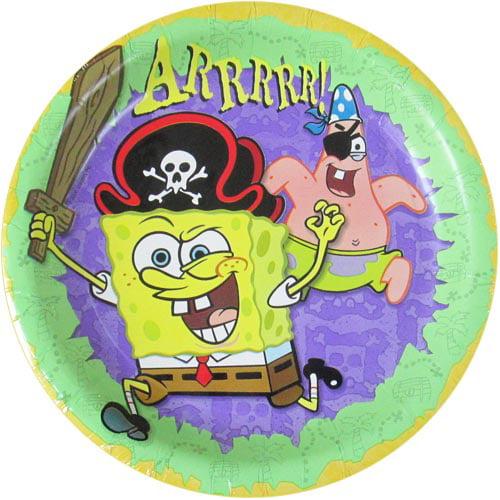 SpongeBob SquarePants 'Pirate' Large Paper Plates (8ct)