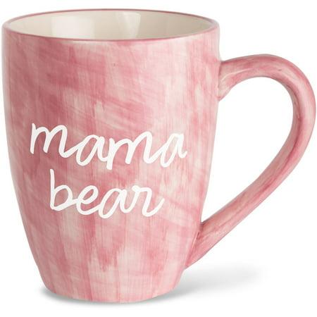 Pavilion - Mama Bear Pink Large 20 oz Ceramic Coffee Mug Tea Cup Bear Ceramic Coffee Mug