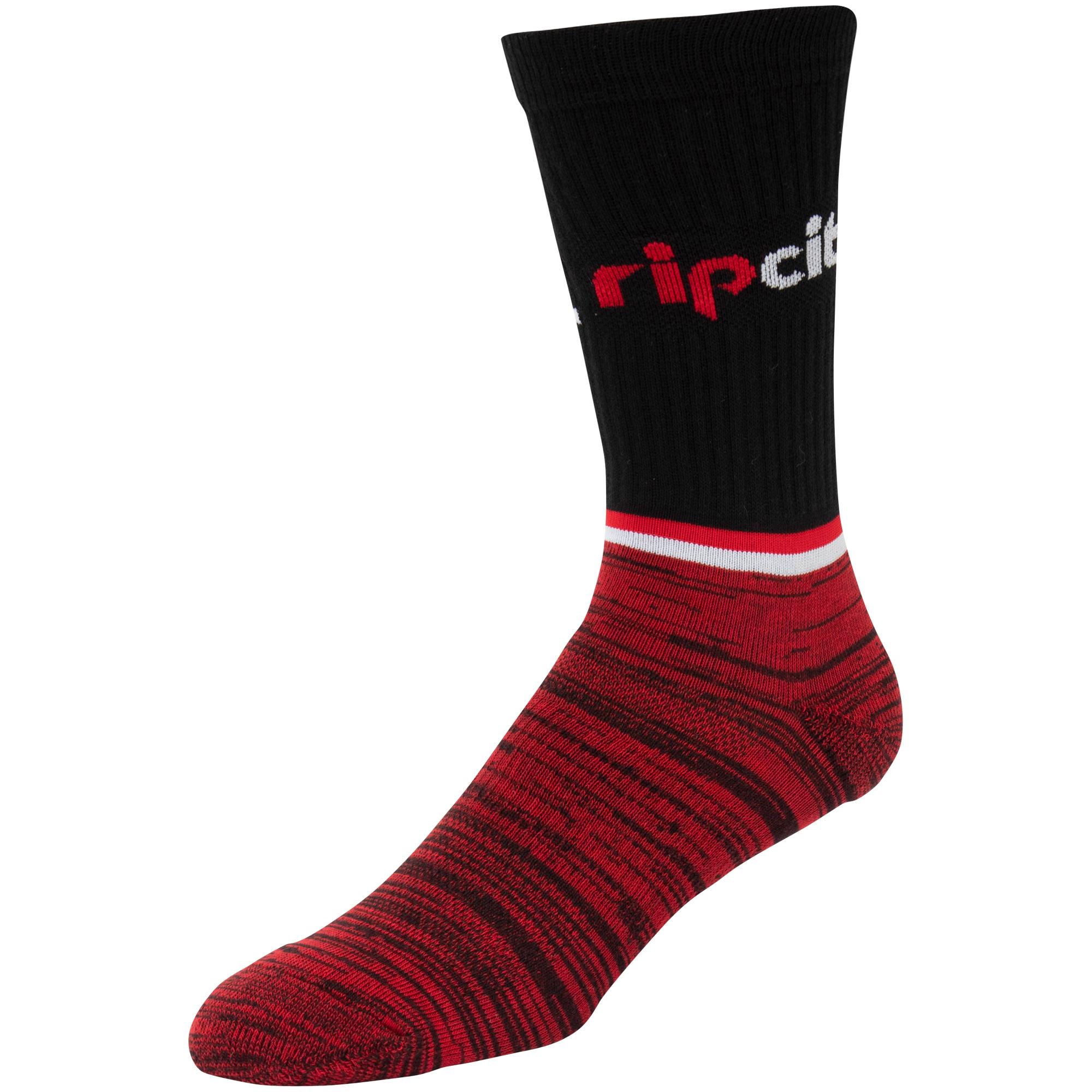 Portland Trail Blazers Block Crew Socks - L