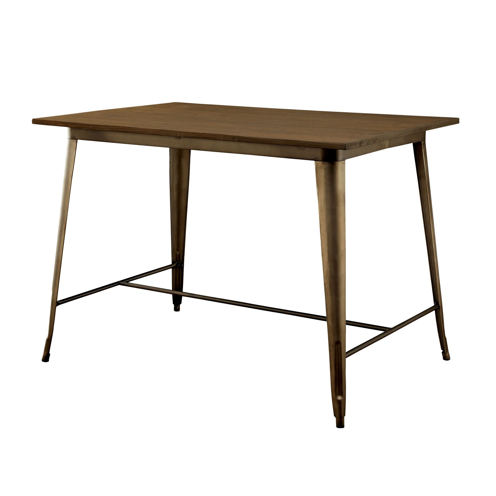 Furniture of America Olmsted Counter Height Metal Framed Dining Table