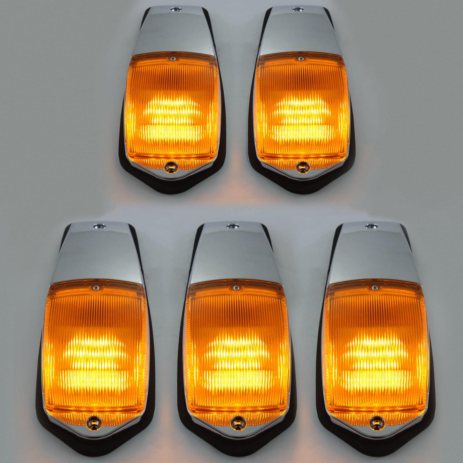 Five LED Cab Marker Lamps Lights Peterbilt Kenworth Freightliner Ford