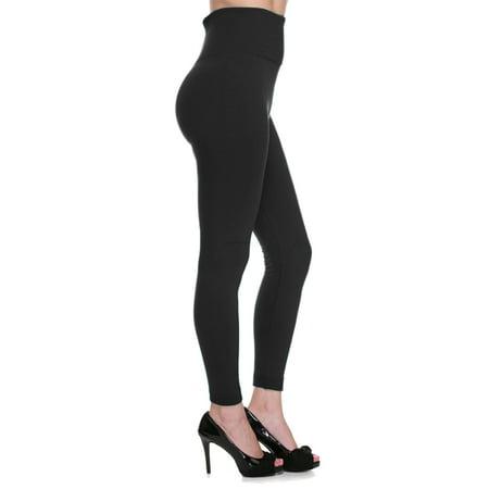High Waist Tummy Shaping Slimming Ankle Leggings Pants Warm Fleece Lined