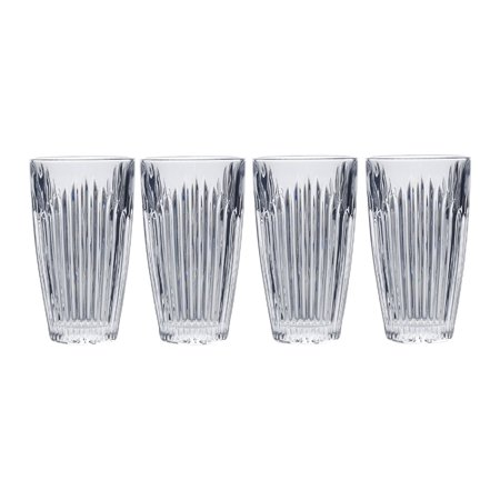Mikasa Parkside Highball Glass, 11.7-Ounce, Set of 4 ()