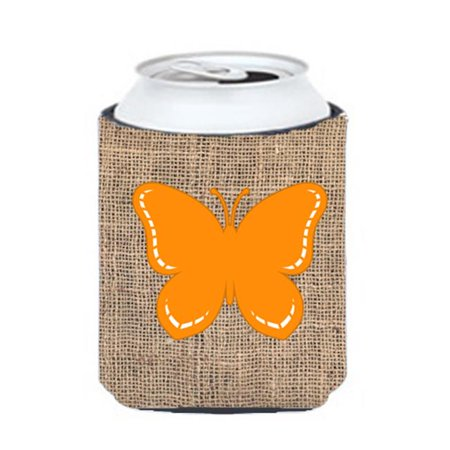Butterfly Burlap and Orange Can or Bottle  Hugger - image 1 de 1