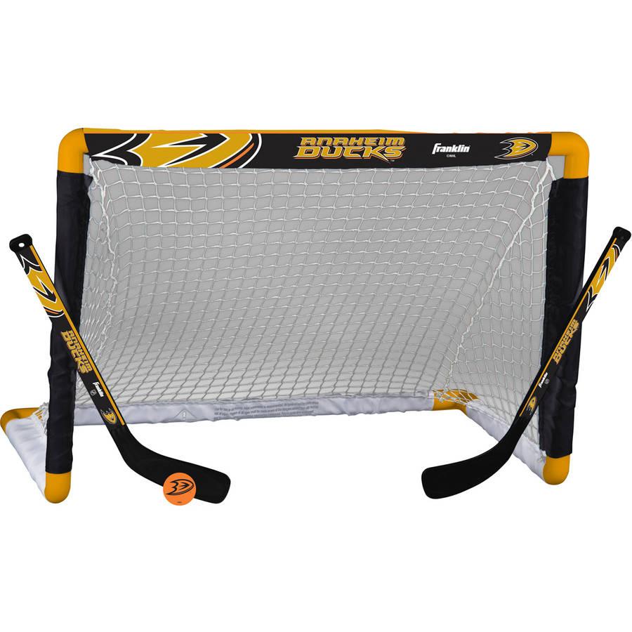 Franklin Sports NHL Anaheim Ducks Mini Hockey Set