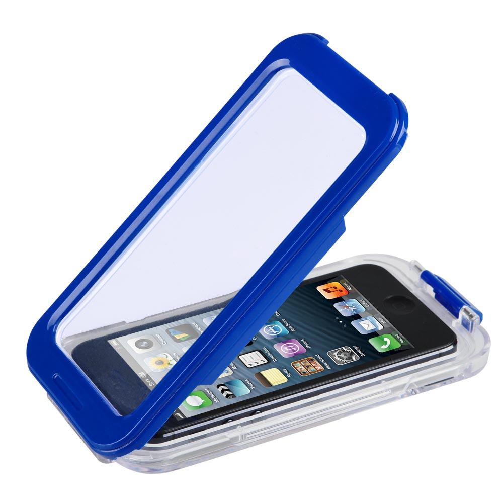 Blue Waterproof Phone Case Dirt Proof Durable Protective Cover for Iphone 4/4S/5/5S