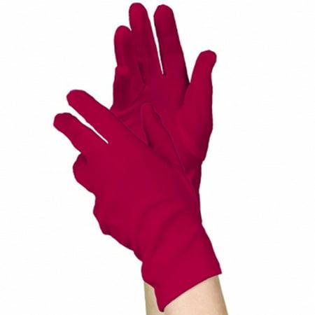 Red Costume Short Gloves (1 pair)
