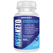 InstaKeto Insta Keto Boost Pills Ultra Fast Advanced BHB Ketogenic Supplement Exogenous Ketones Ketosis for Men and Women 60 Capsules