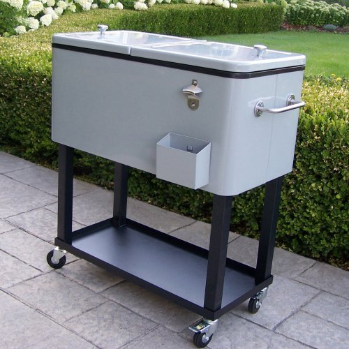 Oakland Living 80 qt. Patio Cooler Cart