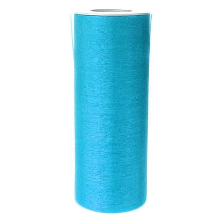Organza Spool Roll, 6-Inch, 25 Yards, Turquoise