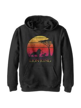 Lion King Boys' Vintage Sunset Logo Hoodie