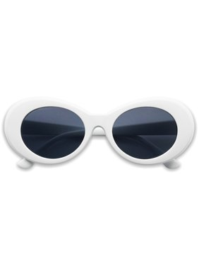 SunglassUP Oval Round Retro Kurt Cobain Clout Goggle Sunglasses