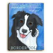Artehouse LLC Border Collie by Ursula Dodge Graphic Art Plaque