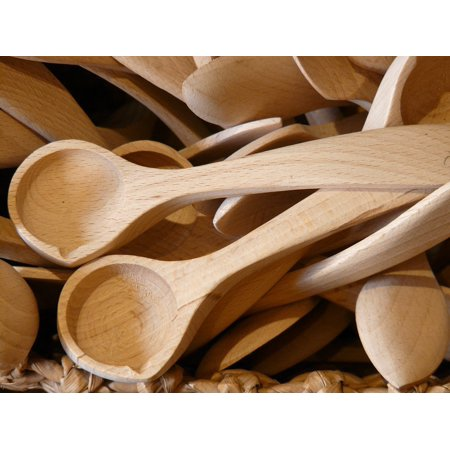 LAMINATED POSTER Forks Creator Wooden Cutlery Trowel Wooden Spoon Poster  Print 11 x 17