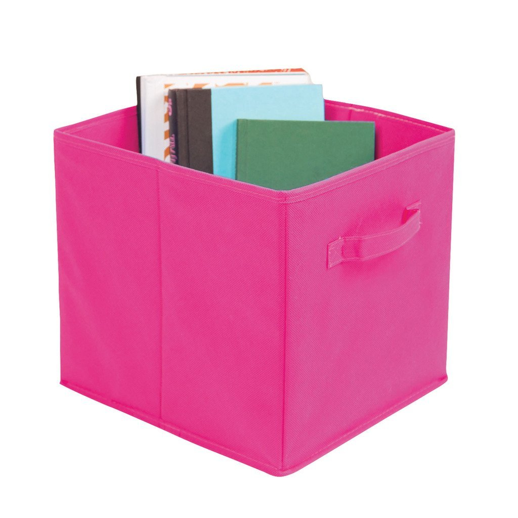 Knock Down Storage Bins, Breathable Canvas Fabric, Pink 1...