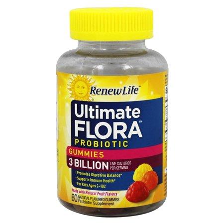 Renew Life - Flora Intégrale 3 milliards Probiotique Gummies cultures vivantes - 60 Gummies