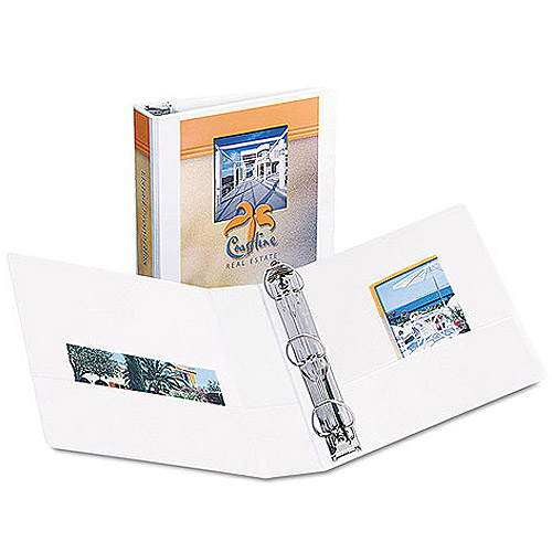 "Avery Durable Reference Vinyl EZ-Turn Ring View Binder, White, 2"" Capacity"
