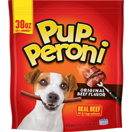 Pup-Peroni Original Beef Flavor Dog Snacks, 38-Ounce Beef Muscle Pet Treats