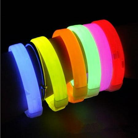 Glow Sticks Triple Wide Glow Bracelets Blinking Party Club Concert Wedding 10pcs](Blinking Necklace)