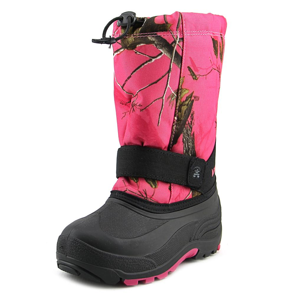 Kamik Board 2 Strap Youth  Round Toe Canvas Pink Snow Boot