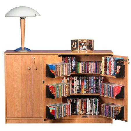 Locking Stand - Oak TV Stand with Double Locking Cabinet, for TVs up to 42