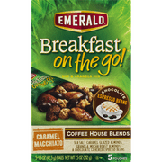 Emerald Breakfast On The Go! Nut & Granola Mix Coffee House Blends Caramel Macchiato - 5 CT