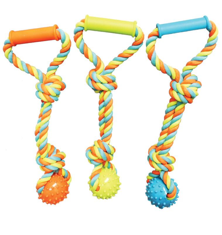 Boss Pet WB15520 Pet Toys, Tug Spike Ball, with Rope