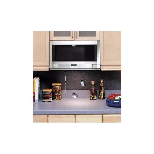 Sharp R1214 Carousel Over The Counter Microwave Oven 1 5 Cu Ft 1100w Stainless Steel