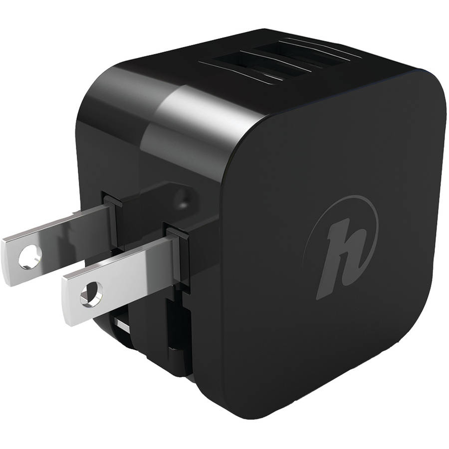 Hipstreet HS-PKACLED-BK Universal USB AC Charger