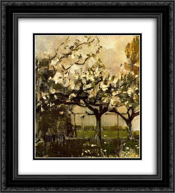 Piet Mondrian 2x Matted 20x24 Black Ornate Framed Art Print 'Alberi'