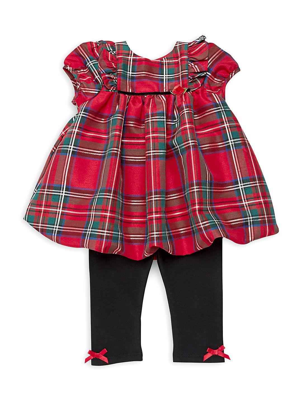 Baby Girl's Two-Piece Tartan Tunic & Leggings Set
