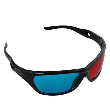 Insten 1 Pair Black Frame Red Blue 3D Glasses For Dimensiona