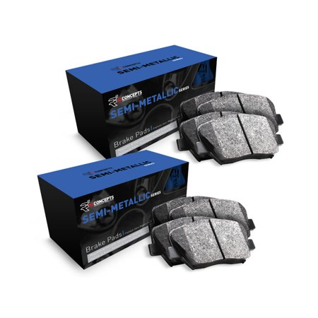 For 2002 Pontiac Firebird Front and Rear R1 Semi-Met Series Brake Pads