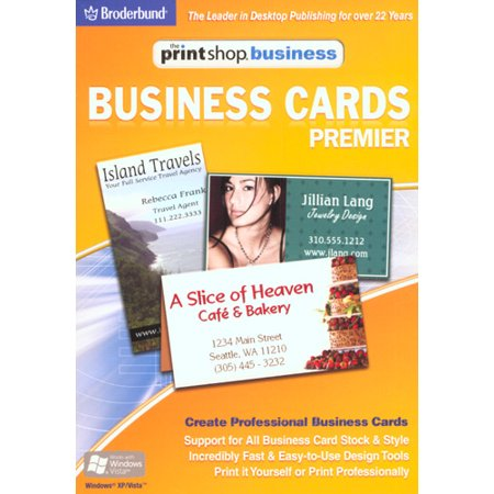 PrintShop Business Premier - Business Cards- XSDP -15091 - Print Shop Business - Business Cards Premier lets you create personalized and professional looking business cards.  It supports all busi