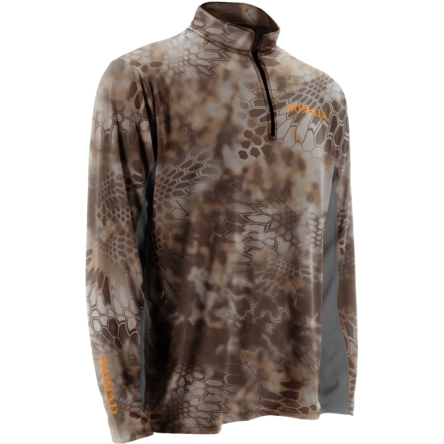 Nomad Men's 1/4 Zip Hunting Tee - Kryptek Banshee - Size X Large