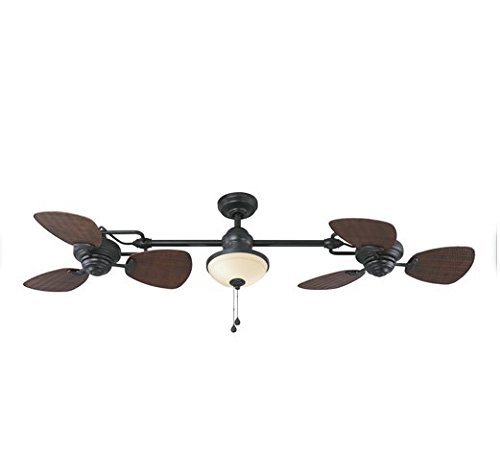 Harbor Breeze Twin Breeze Ii 74-in Oil-rubbed Bronze Outd...