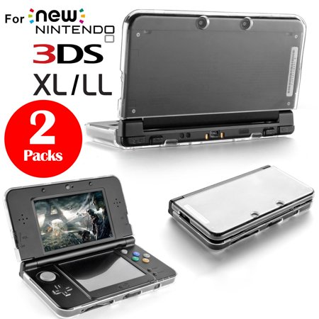 2Pcs Plastic Crystal Protective Hard Clear Cases Cover for New Nintendo 3DS XL LL ()