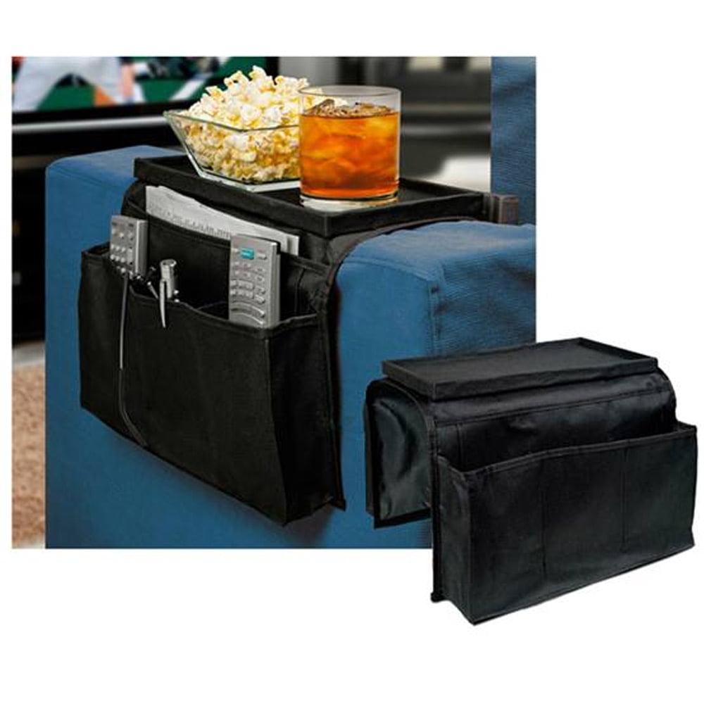 sofa arm rest organizer 5 pocket caddy couch tray remote