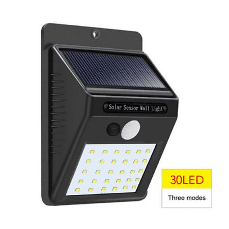 CBD Outdoor Solar Lights Motion Sensor Wall Light Waterproof Garden Yard Lamp 30 LED 1PCS