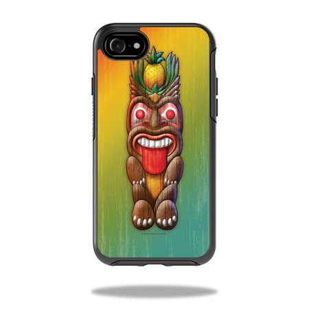 Skin for OtterBox Symmetry iPhone 8 - Tiki Man| MightySkins Protective, Durable, and Unique Vinyl Decal wrap cover  | Easy To Apply, Remove, and Change Styles | Made in - Tiki Man