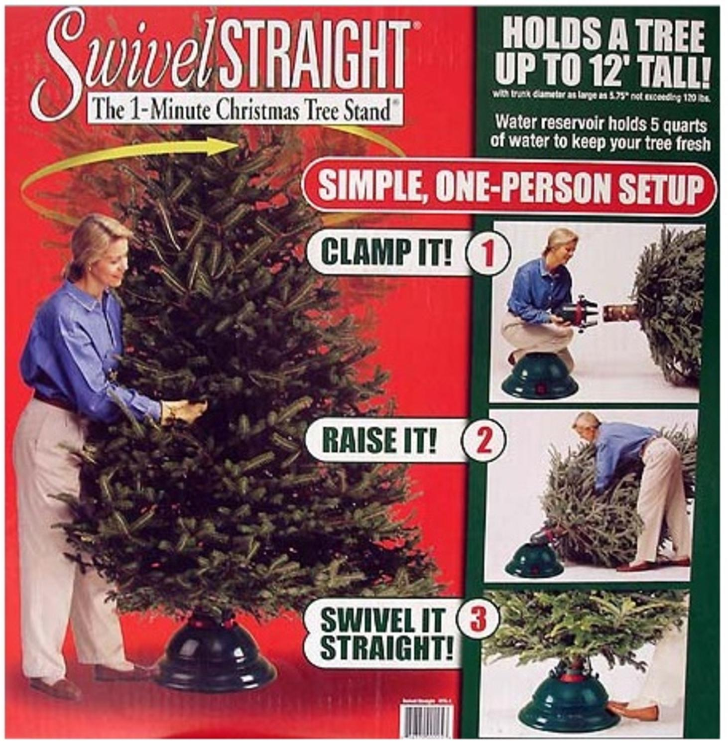 Swivel Straight Plus Christmas Tree Stand - For Trees Up To 12' Tall - Walmart.com