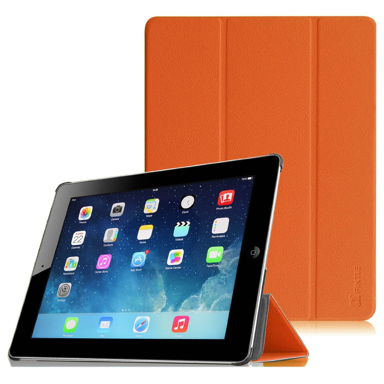 Apple iPad 4th, iPad 3 & iPad 2 SmartShell Case - Fintie Ultra Slim Lightweight Smart Cover with Auto Wake/Slee, Orange