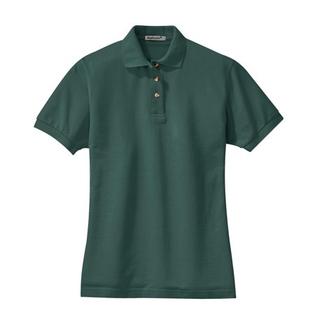 Mafoose - Mafoose Women s Heavyweight Cotton Pique Polo Shirt Dark Green S  - Walmart.com dc05e1e5e8