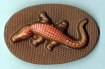 Chocolate Alligator Oval Favor 5 pc. by The Chocolate Vault