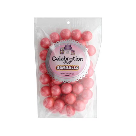 SweetWorks Gumballs 14oz Stand Up Bg Shim Coral - Mini Gumballs By Color