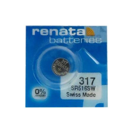317 / SR516SW Renata Silver Oxide Button Battery - image 1 de 1