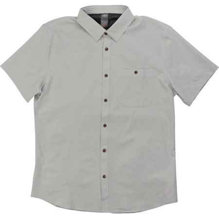 Quiksilver Mens Waterman Collection SS Tech Shirt 2 - Gray - Quiksilver Mens Surf Check